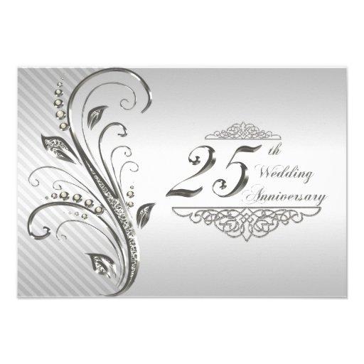 25th Wedding Anniversary RSVP Invites
