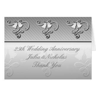 25th Wedding Anniversary Silver Card