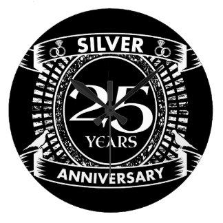 25th Wedding Anniversary Wall Clocks Zazzle