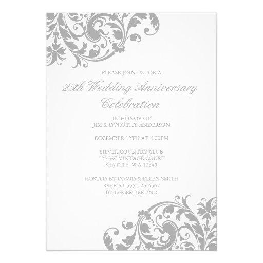 Personalized Th Anniversary Invitations CustomInvitationsUcom - Silver wedding anniversary invitations templates