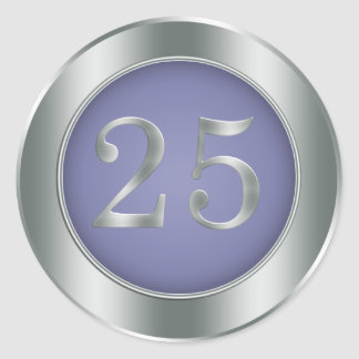 25th Wedding Anniversary Round Stickers