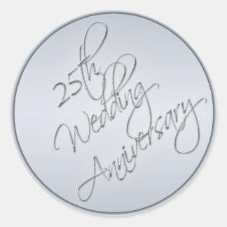 25th Wedding Anniversary Sticker