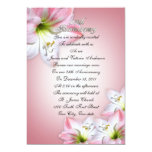 25th Wedding anniversary vow renewal pink amarylis Custom Announcement