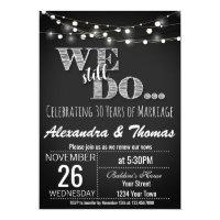 25th wedding anniversary invitations zazzle 25th wedding anniversary we still do anniversary stopboris Gallery