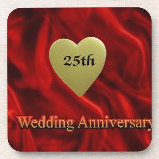 25th wedding anniversay coaster