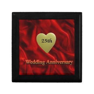 25th wedding anniversay keepsake box