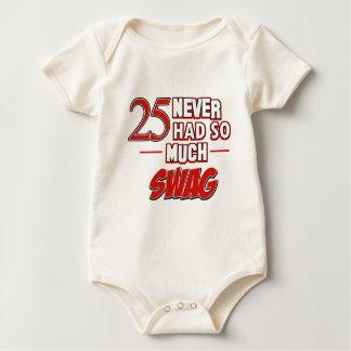 25th year anniversary baby bodysuit