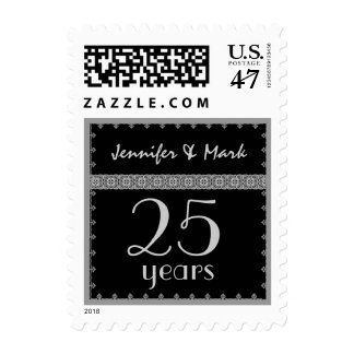 25th Year Anniversary - Black and Silver Stamp