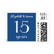25th Year Anniversary or Any Year Black and White Postage
