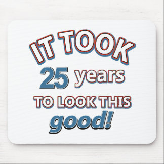 25th year birthday designs mouse pad