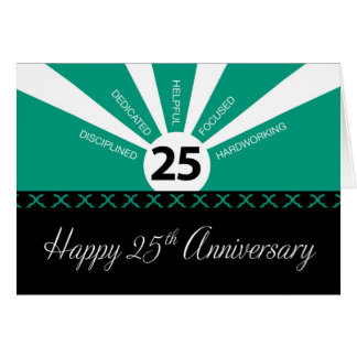 25th Year Employee Anniversary, Business, Green Card