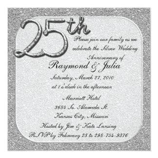 25thSilver  Anniversary Party Invitation