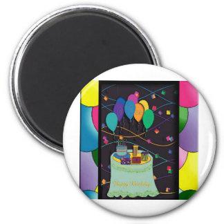 25thsurprisepartyyinvitationballoons copy 2 inch round magnet