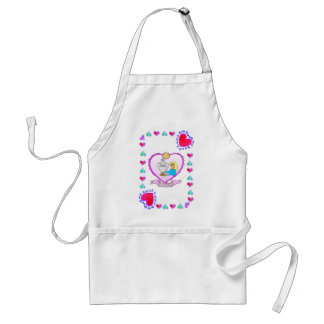 25tht Anniversary - Silver Adult Apron