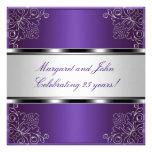 25to acontecimiento floral de plata púrpura de la  anuncio