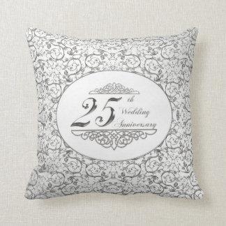 25to Almohada de tiro del aniversario de boda