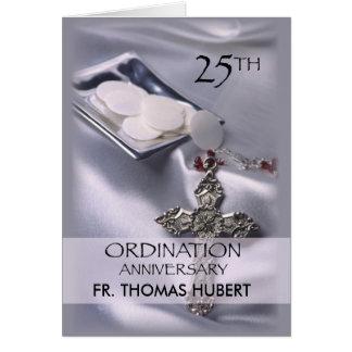25to Anfitrión de la cruz de la invitación del Tarjeta De Felicitación