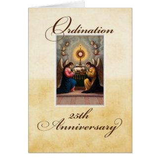 25to Ángeles del aniversario de la ordenación en Tarjeta De Felicitación