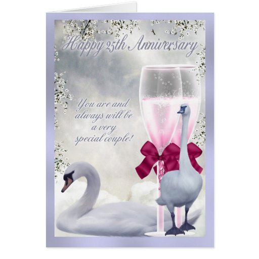 25to aniversario - aniversario de plata tarjeta de felicitación