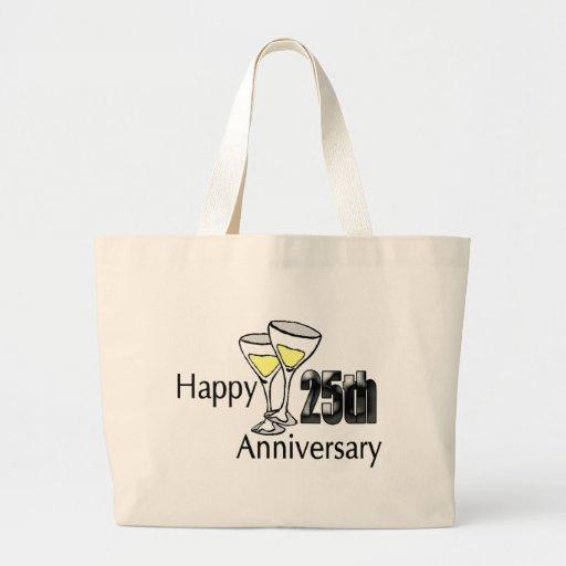 25to aniversario bolsa tela grande