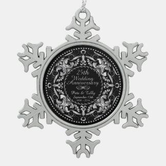 25to Aniversario de boda 2 - ornamento del estaño Adorno