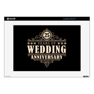 25to Aniversario de boda 38,1cm Portátil Calcomanías