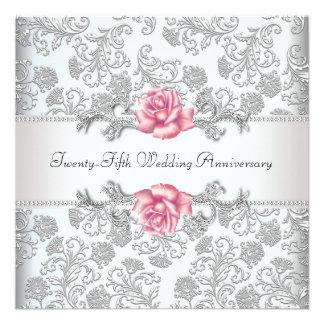 25to aniversario de boda de la plata color de rosa comunicado personal