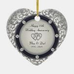 25to Aniversario de boda Ornamento Para Arbol De Navidad