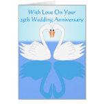 25to Aniversario de boda Felicitación