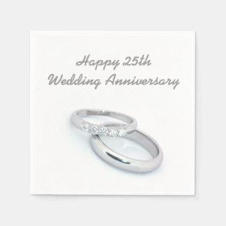 25to aniversario de boda feliz servilletas desechables
