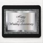 25to aniversario de boda feliz tapete de ratones