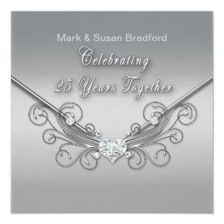 25to Aniversario de boda - INVITACIÓN - PLATA