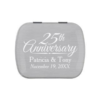 25to Aniversario de boda personalizado Latas De Caramelos