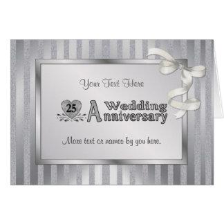 25to Aniversario de boda - plata Tarjetas