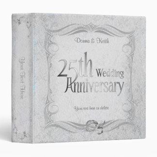 """25to Aniversario de bodas de plata Carpeta 1 1/2"""""""