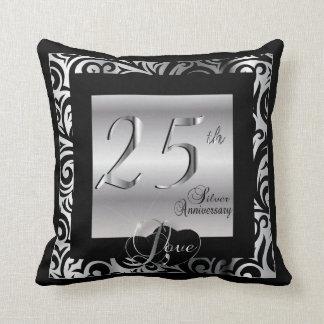 25to Aniversario de bodas de plata Cojines