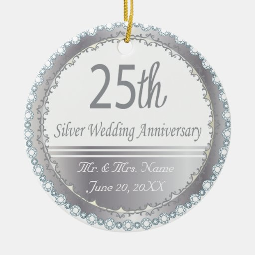 25to Aniversario de bodas de plata Ornamento Para Reyes Magos