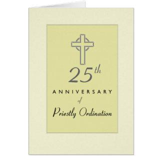 25to Aniversario de la ordenación del sacerdote, Tarjeta De Felicitación