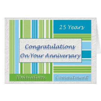 25to aniversario del empleado tarjeta de felicitación
