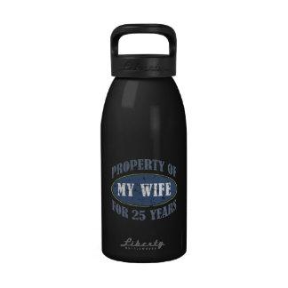 25to aniversario divertido botella de agua