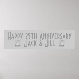 25to aniversario feliz póster