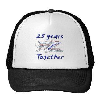 25to. Aniversario Gorros