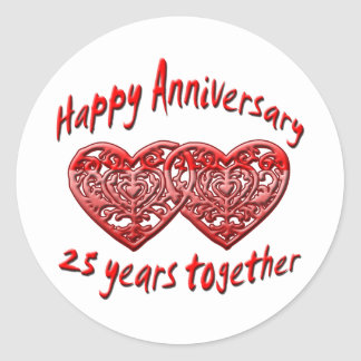 25to. Aniversario Pegatina Redonda