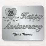 25to aniversario - plata alfombrillas de raton