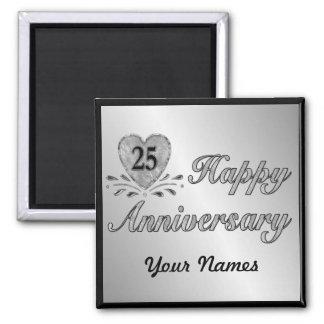 25to aniversario - plata imán de frigorífico