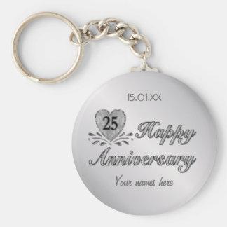 25to aniversario - plata llavero redondo tipo pin