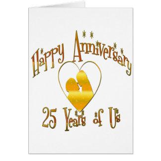 25to. Aniversario Tarjeta De Felicitación