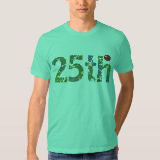 25to Camiseta de los regalos de cumpleaños Playeras