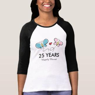 25to Camiseta el | del aniversario de boda Polera