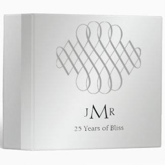 25to Carpeta de plata del aniversario de boda de